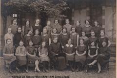 Collège JF 1924-1925 2ème année site