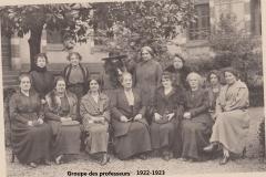 Groupe des Professeurs 1922-1923 site